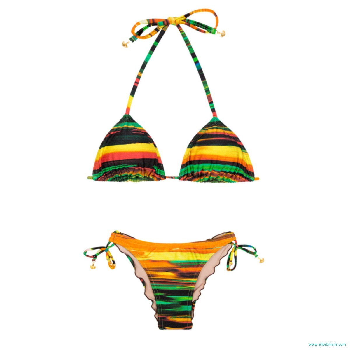1a038accfbd Lua Morena brings from Brazil this brand new multicolored brazilian bikini  model, the Pintura Coracao from 2017 collection. The top of Pintura Coracao  ...