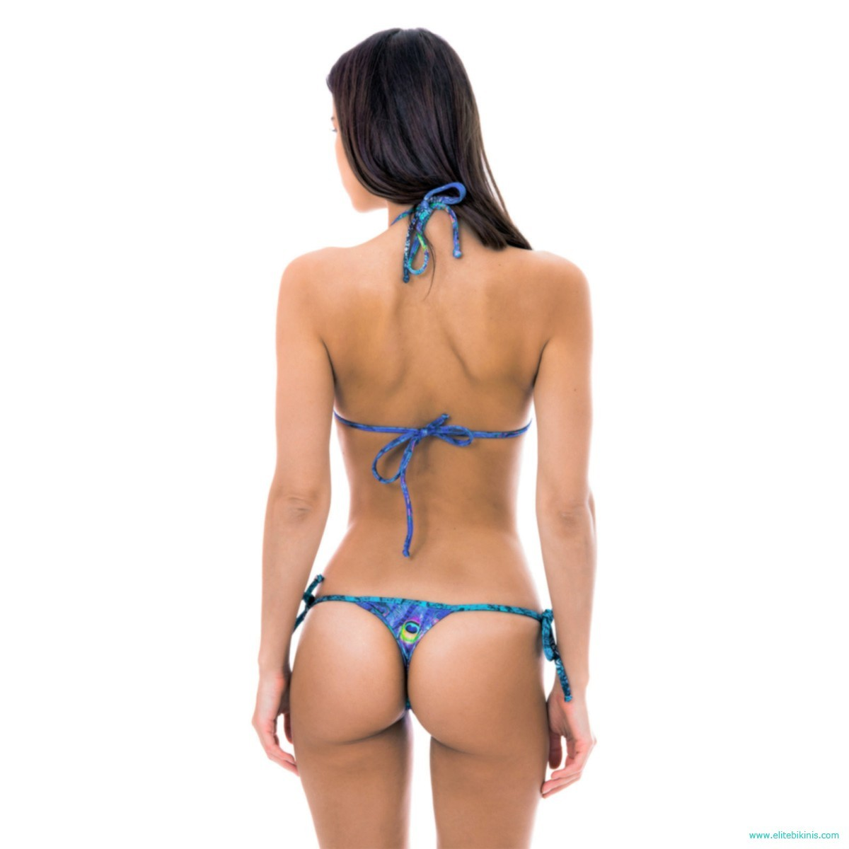 869947c8f93 This blue micro bikini, also known as thong, belongs to the 2018 collection  by the known brand, Rio de Sol, and it's made in Brazil. It has a triangle  top ...
