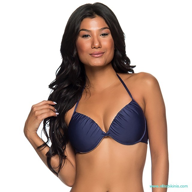 829df8223bb06 Lua Morena bikini top in navy blue color from 2019 collection it's made in  Brazil. This Top Turb New York top has a balconette style, it is padded  (hard ...